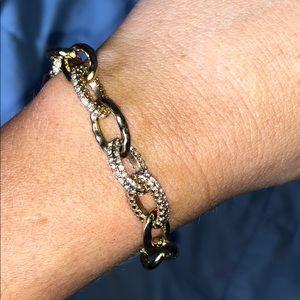 EUC Stella & Dot Gold Christina Link Bracelet
